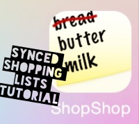 Synced Shopping Lists Tutorial with ShopShop for iOS| Abby's Apps at StairStories.com #31Days