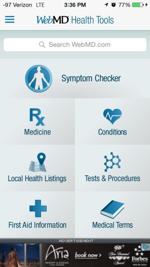 WebMD: Good App, just not for Hypochondriacs!