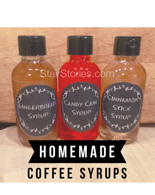 Homemade Coffee Flavoring Syrup Gift Set
